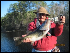 Jim with his 5.8 lb Largemouth Bass